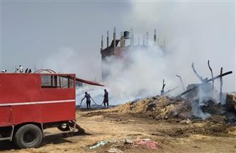 السيطرة على حريق بمصنع كتان فى سمنود بالغربية | صور