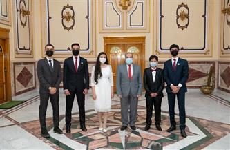 وزير الانتاج الحربي يكرم الطلاب المصريين الفائزين بثلاث جوائز في المسابقة الدولية للعلوم والهندسة (ISEF)