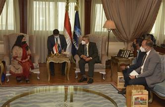الفريق أسامة ربيع يلتقي وفدا دبلوماسيا برئاسة القنصل الهندي في مصر | صور