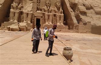 متابعة تطبيق ضوابط السلامة الصحية وإجراءات تطهير المتاحف والمناطق الأثرية | صور