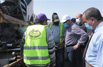 تفاصيل جولة وزير النقل بطريق «المعاهدة» لخدمة أهالي محافظتي السويس والإسماعيلية | صور