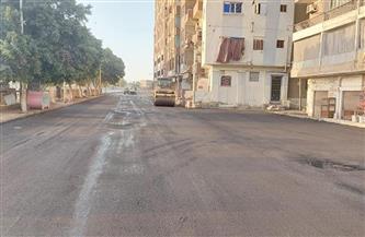محافظ أسيوط: رصف شارع كورنيش النيل بالوليدية بحي شرق بطول 2 كم | صور