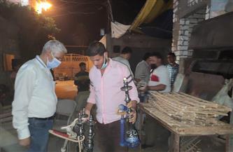 غلق 19 مقهى وورشة وتحرير 202 مخالفة لمواطنين لعدم ارتداء الكمامة بالفيوم | صور