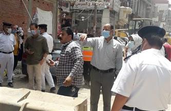 تحرير 37 محضر إشغال و13 غرامة فورية لعدم ارتداء الكمامات بشبين الكوم | صور
