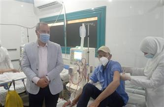 وكيل وزارة الصحة بالدقهلية يشارك بدء تطعيم مرضى الغسيل الكلوي بمستشفى بلقاس