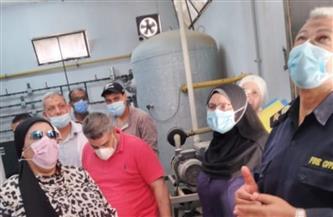 المرور على 14 مستشفى في المنوفية لمراجعة شبكات الغازات الطبية وتانكات الأكسجين| صور
