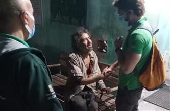 """فريق """"الأطفال والكبار بلا مأوى"""" ينقذ شابًا بالقاهرة.. وإيداعه بمستشفى العباسية"""