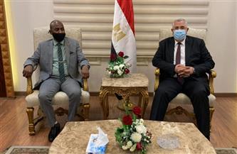 «القصير» يستقبل وزير الثروة الحيوانية السوداني أثناء زيارته للقاهرة | صور