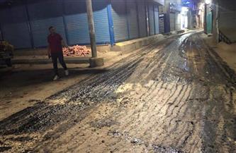استمرار أعمال التطوير بالشوارع الفرعية والرئيسية بمدينة منوف | صور