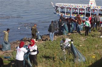 تنظيف نهر النيل بأيدي طلاب جوالة جامعة حلوان