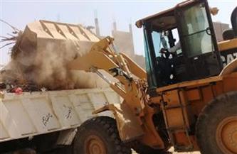 رفع 26 طن مخلفات وتراكمات وتمهيد للطرق في قرى بسيون