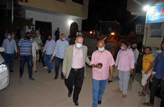 حملة لرفع الإشغالات ومتابعة تطبيق الإجراءات الاحترازية بمدينة القرنة | صور