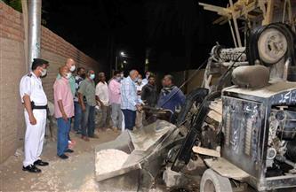 رئيس مركز القرنة يرصد بناء مخالفا ويوقف أعمال البناء | صور