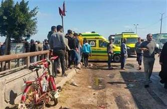 إصابة 4 في حادث تصادم بين نقل وجرار على طريق المنصورة - جمصة