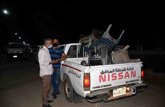 تحرير 52 إزالة إدارية في حملة مكبرة على مدينة القرنة غرب الأقصر | صور