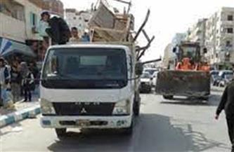 تحرير 86 محضر إشغال ومخالفات في حملة على مدينة القرنة غرب الأقصر