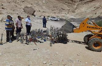 إعدام 200 شيشة بمركز ساقلته | صور