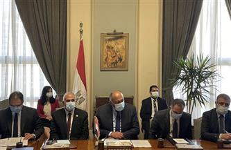 وزيرا الخارجية والري يناقشان تطورات سد النهضة مع المبعوث الأمريكي للقرن الإفريقي | صور