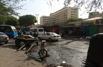 ننشر الصور الأولية لحريق موقف أحمد حلمي| صور