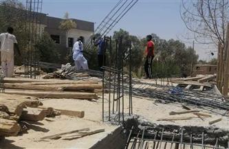 رئيس مدينة المحلة يوجه بإيقاف حالة تعد بالبناء على أرض زراعية