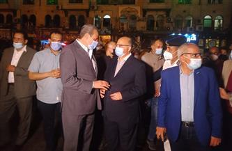 محافظ القاهرة ومدير الأمن يتابعان مواعيد غلق المحال