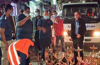 حملات مكثفة لتطبيق قرار غلق المحال التجارية بأحياء الإسكندرية |صور