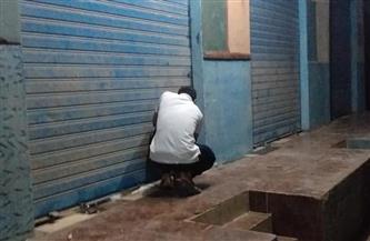 حملة لرفع الإشغالات وغلق المحلات والمقاهي غير الملتزمة بمواعيد الغلق في المطرية