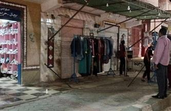 رئيس مركز باريس بالوداي الجديد يحرر محضرا لمحل ملابس لعدم التزامه بمواعيد الغلق |صور