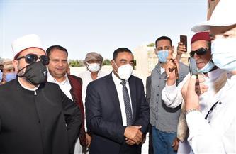 محافظ مطروح يفتتح 4 مساجد في مدينة الحمام| صور