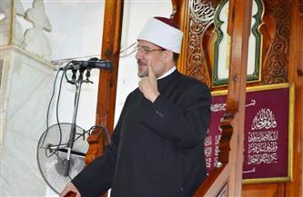 """وزير الأوقاف في خطبة الجمعة بمسجد """"السيدة نفيسة"""" بالقاهرة: ليلة القدر ليلة رحمة وسلام وسعادة"""