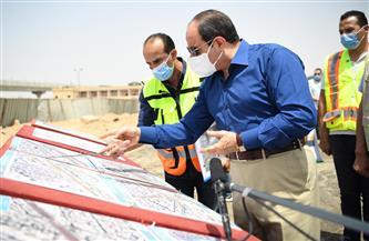 الرئيس السيسي يتفقد أعمال تطوير المحاور والطرق الجديدة بمنطقة شرق القاهرة |صور
