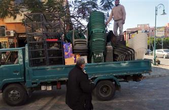 رفع 56 حالة إشغال طريق من شوارع وسط الإسكندرية