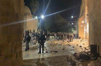ارتفاع عدد المصابين الفلسطينيين إلى 163 جريحًا جراء اقتحام شرطة الاحتلال لساحة المسجد الأقصى