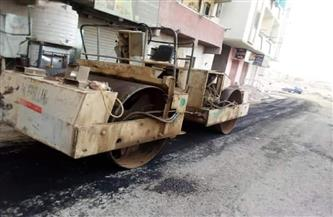 استكمال أعمال ترميم الأسفلت بشارع السلام بالغردقة| صور