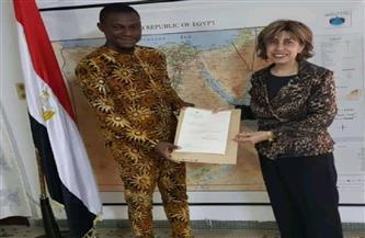 سفيرة مصر في كوتونو تلتقي الفائز البنيني الحائز على الجائزة المصرية لشباب الباحثين الأفارقة لعام 2020