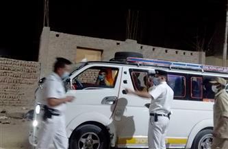 حملة بالبياضية جنوب الأقصر وتحرير 52 محضر عدم ارتداء كمامة وإزالات