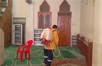 حملات لتعقيم المساجد والسكة الحديد ومكاتب البريد بحي غرب والبداري بأسيوط | صور
