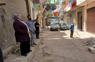 إزالة الخطورة الداهمة عن عقار آيل للسقوط بـ «غيط العنب» غرب الإسكندرية | صور