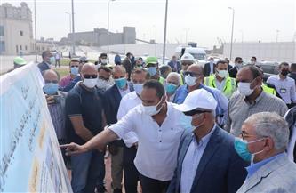 وزير النقل يتفقد مشروع أرض التجارية للأخشاب المنقولة للدائرة الجمركية لميناء الإسكندرية