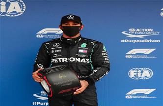 هاميلتون يحصد مركز الانطلاق الأول للمرة رقم 100 في فورمولا-1