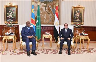 الرئيس السيسي يؤكد تقدير مصر جهود الرئيس الكونغولي والثقة في قدرته للتعامل مع ملف سد النهضة