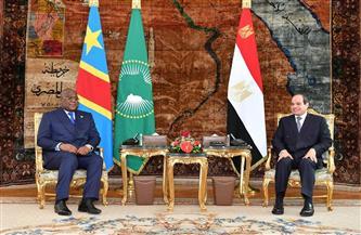 تفاصيل مباحثات الرئيس السيسي ونظيره الكونغولي |صور