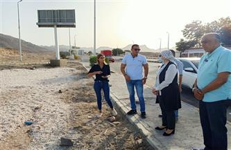 رئيسة مدينة سفاجا تتفقد مشروعات تطوير وتجميل مداخل وميادين المدينة