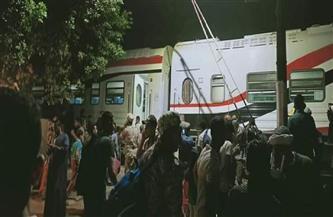 خروج عربة قطار عن القضبان بالعياط دون وقوع إصابات | صور