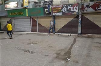 غلق 11 محلًا في حملة مسائية على المقاهي والكافيهات والمحال بمركز المنشاة في سوهاج