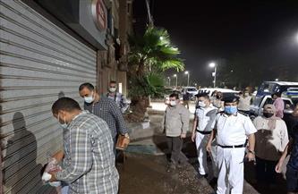 غلق وتشميع ٤ محلات أثناء حملة مكبرة بحي غرب سوهاج