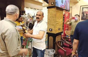 نائب محافظ بورسعيد يغلق 3 مقاهٍ تقدم الشيشة | صور