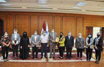 رئيس جامعة كفر الشيخ يستقبل قيادات المجلس القومي للمرأة بالمحافظة | صور