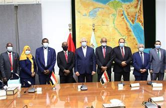 وزير الزراعة يلتقي وزير الثروة الحيوانية السوداني في ختام زيارته للقاهرة | صور