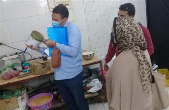التفتيش على 184 منشأة وإعدام 233 كيلو أغذية بكفر الشيخ | صور